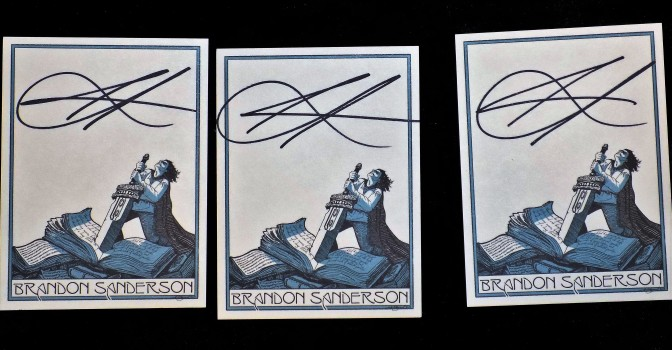 Free Giveaway   Three  Bookplates  Autographed By Brandon Sanderson